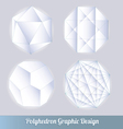 polyhedron for graphic design vector image vector image