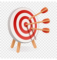 red white target icon cartoon style vector image