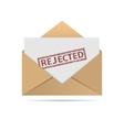 Rejected letter vector image