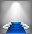 round stage podium with light stage backdrop vector image