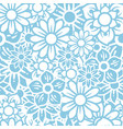 seamless pattern big blue flowers background vector image
