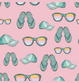 seamless pattern summer clothes isolated on a vector image