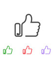set icon thumbs up outline symbols like vector image
