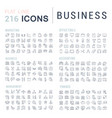 set line icons business vector image