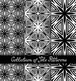 Set of 3 Seamless Vintage Patterns vector image