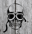 Skull T-shirt design Tattoo art vector image