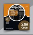 sport fitness flyer template vector image vector image