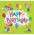 Template for Happy Birthday greeting card vector image vector image