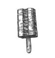 vanilla dairy ice cream on stick monochrome vector image vector image