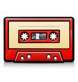 vintage audio tape cartoon vector image vector image