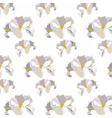 Vintage Delicate White geranium Flowers pattern vector image vector image