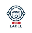 wine label natural top quality product vintage vector image vector image