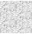 Winter hand drawn seamless pattern vector image