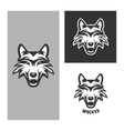 Wolf mascot for sport teams Vintage vector image vector image