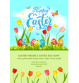 flower poster holiday easter vector image