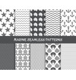 sea and marine seamless patterns vector image