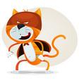 comic super cat vector image