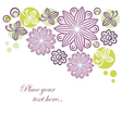Floral retro banner vector image