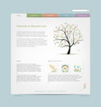 website design template with floral tree vector image