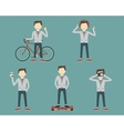 Set Man Lifestyle vector image
