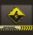 high voltage danger sign vector image