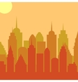 Morningt cityscape background City vector image
