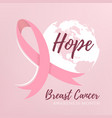 abstract breast cancer design vector image vector image