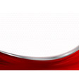 abstract technology business red curve vector image vector image