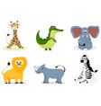 african animals cartoon vector image vector image