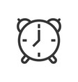 alarm clock line style isolated icon vector image
