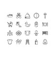 baby icon collections with outline style pixel vector image vector image