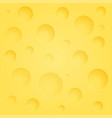 background of cheese with holes - yellow vector image