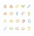 Bakery and Pastry Colorful Icons Set vector image
