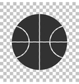 Basketball ball sign Dark gray icon vector image vector image