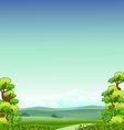 beauty nature background vector image
