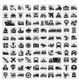 big transportation icons vector image vector image