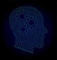 brain gears polygonal frame mesh vector image