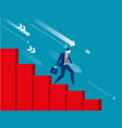 businessman moving down with economic recession vector image