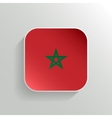 Button - Morocco Flag Icon vector image