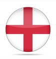 button with flag of England vector image vector image