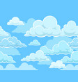 cartoon seamless clouds background pattern vector image vector image