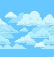 Cartoon seamless clouds background pattern