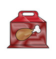 chicken prey flat scribble vector image vector image