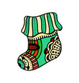 christmas boho sock vector image