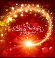 christmas magic glittering star vector image vector image