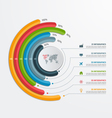 Circle infographic template with 6 processes vector image