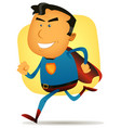 comic superhero running vector image vector image
