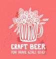 craft beer hand drawn vector image vector image