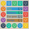 Dislike icon sign Set of twenty colored flat round vector image