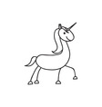 Doodle horse animal icon vector image
